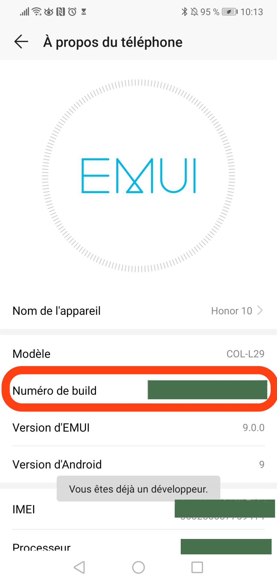écran gris sous android