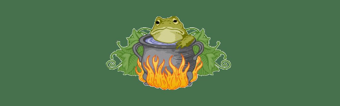 grenouille et eau froide