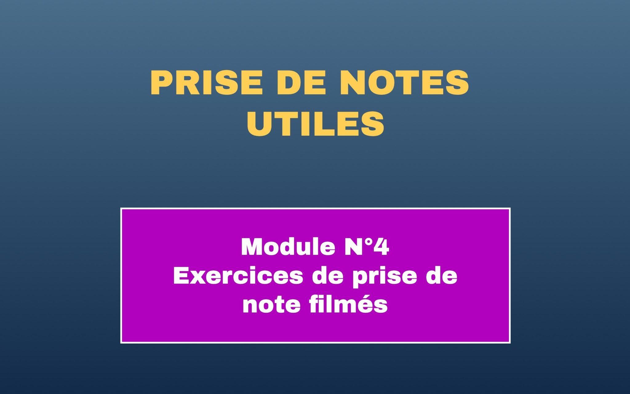 Prise de notes utiles 4