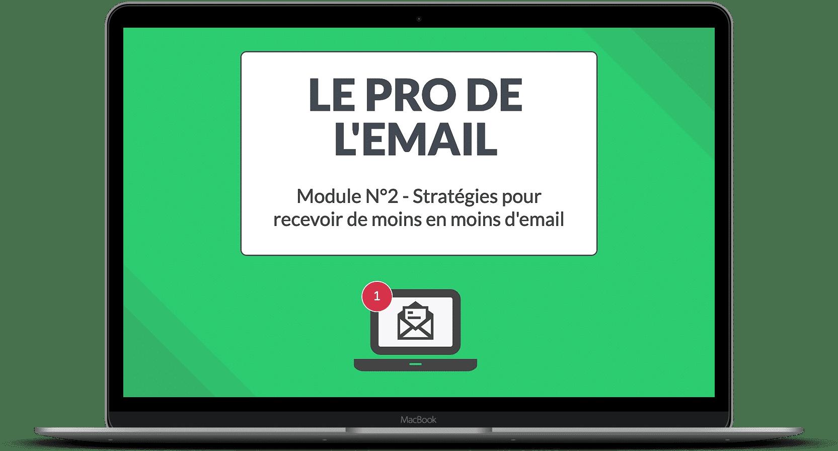 Module N°2 - Stratégies pour recevoir de moins en moins d'email